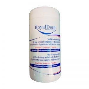 Toallitas desinfectantes para dispositivos médicos no invasivos.